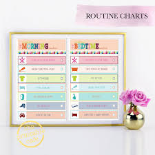 printable evening schedule morning bedtime evening routine checklist daily schedule