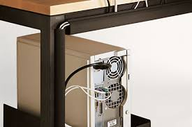 Desk With Cable Management by Essentials Cord Management Modern Office Organization Modern
