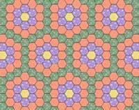 free grandmothers flower garden quilt pattern with history