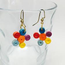 quiling earrings simple quilling earrings multi color flower dangles