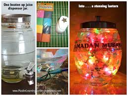 Upcycled Jar Ramadan Lantern Muslim Learning Garden
