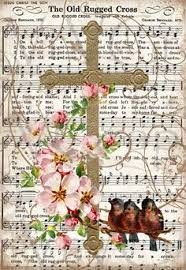 Song Lyrics Old Rugged Cross The Old Rugged Cross Vintage Hymn Easter Sign Digital Download