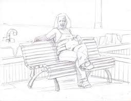 sketching at the park artwork by d b clemons