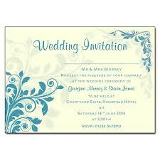 teal wedding invitations teal floral wedding invitations