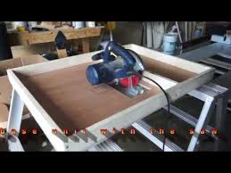 convert circular saw to table saw homemade table saw part 1 diy motor mount adjustable bed