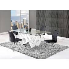global furniture dining table d2003dt wh global furniture 2003 dinette table white
