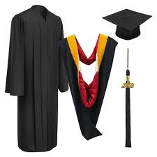 cheap cap and gown matte black bachelor cap gown tassel gradshop