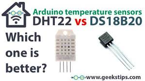 temperature sensor comparison dht22 vs ds18b20 arduino tutorial