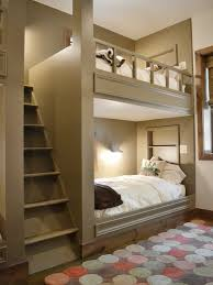 Wood Bunk Beds Plans by Bunk Beds With Side Stairs To Upper Bed Great Loft Design