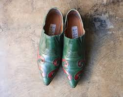 green leather shoes etsy