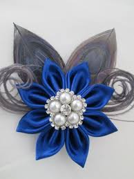 silver and royal blue wedding royal blue wedding hair clip silver peacock fascinator royal
