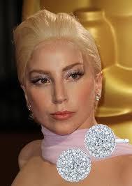 gaga earrings oscars get the look coronet diamonds