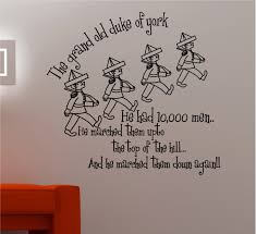 Nursery Rhymes Decorations Wall Decor Ideas Grand Duke Nursery Rhymes Wall