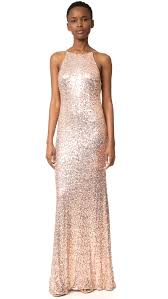 badgley mischka collection cowl back sequin gown shopbop