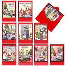 amazon com box set of 24 funny christmas cards by stonehouse