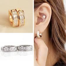 ear earrings 2pcs mens women stainless steel ear hoop stud huggies
