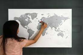 Diy World Map by Scratch Off World Map Version 2 Gold Silver