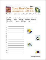 alphabetical order printables worksheets page 1 abcteach