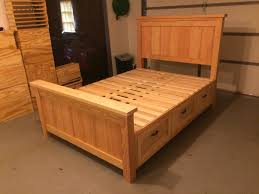 Bed Frame With Storage Plans Ana White Farmhouse Storage Bed With Hidden Drawer Diy Projects