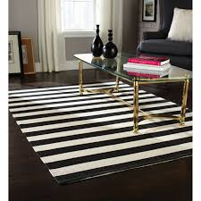 Stain Resistant Rugs Modern Rectangle Home Trends Area Rug Black And White Stripe Made