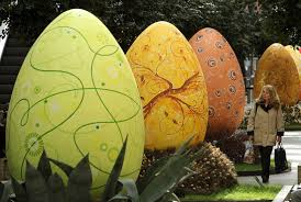 large easter eggs easter eggs on display in berlin popsugar