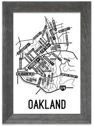 Pittsburgh Neighborhood Map Oakland Pittsburgh Street Map Print Street Posters