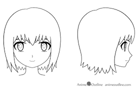 how to draw an anime u0027s head and face anime outline