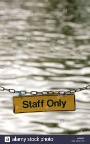 Water Challenge Dangerous Staff Only Board Sing Water Chain Dangerous Perilously Riskily