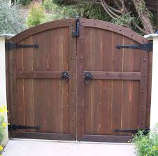 How To Build A Solid Wood Door Wood Gates Arched Yard Custom Redwood See Through