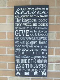 the lord u0027s prayer wedding sign hand painted wood sign