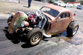rattletrap car chopped and channelled fiat topolino rat rod street machine