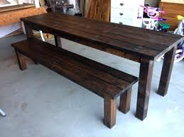 farm tables with benches farmhouse table with benches dining tables bench diy doozo info