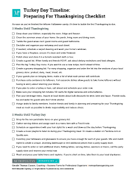 turkey day timeline checklist preparing for thanksgiving