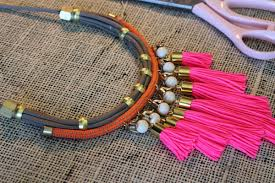 cord necklace making images 25 beautifully colorful diy necklaces jpg