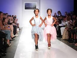 diddy u0027s daughters strut the catwalk at kids fashion week