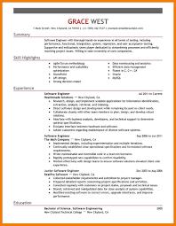 Strong Resume Summary 10 Software Engineer Resume Summary Mbta Online