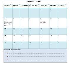 2013 calendar template cerescoffee co