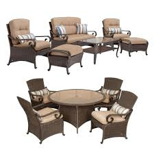 6 Seat Patio Table And Chairs Lake Como Combo 6 Piece Patio Furniture Set And 5 Piece Patio