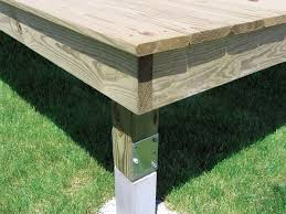 deck post in concrete deck design and ideas