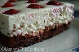 Cottage Cheese Brownies by Kodujuustukook šokolaadibrownie Põhjaga Cottage Cheese Cake With