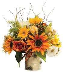 artificial flower arrangements autumn centerpiece farmhouse artificial flower