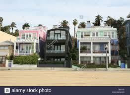 beach houses along the sea front santa monica los angeles