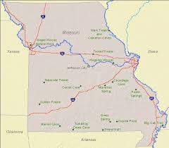 missouri caves map national landmarks by state national landmarks