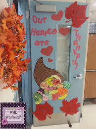 Well Michelle Our Heart are Thankful Door Decoration }
