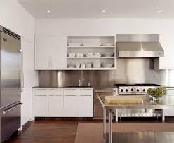 kitchen with stainless steel backsplash stainless steel backsplash kitchen kitchen with open
