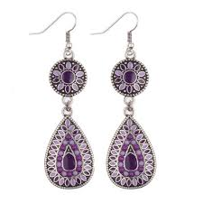 purple drop earrings purple drop earrings earrings jewelry