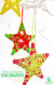 yarn wrapped ornaments craft room