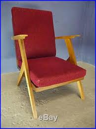 50s Armchair 2 Vintage Retro Mid Century 50s 60s Armchair Lounge
