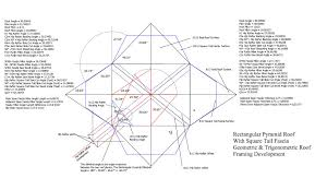 Hip And Valley Roof Calculator Roof Framing Geometry Pyramid Hip Roof Rafters Equal U0026 Unequal
