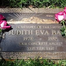 judith barsi u0027s gravestone adorable played ducky